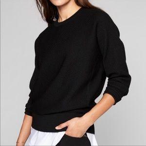 Athleta Thermal Honeycomb Sweater Black | XL